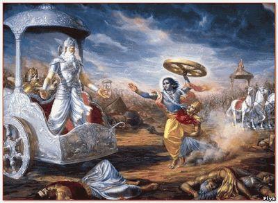 Битва богов описанная в Махабхарата