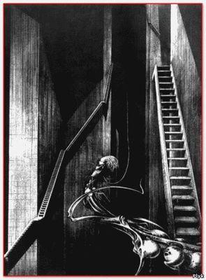 Лестницы на картинах Гигера