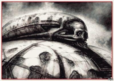 Некрономикон и картины Рудольфа Гигера и прототипы Чужого