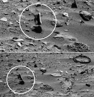 Фото с Марса, летающие камни