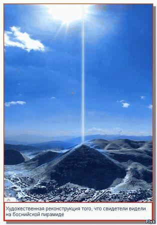 Светящийся столб уходящий в небо