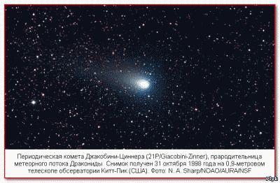 Периодическая комета Джакобини-Циннера