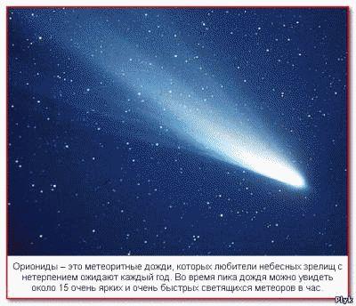 Ориониды – это метеоритные дожди