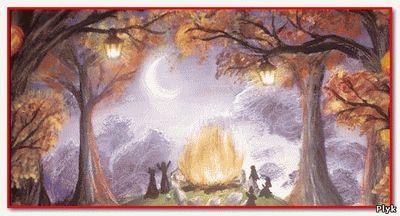 Костры друидов были призваны разгонять окружающий мрак - самайн праздник