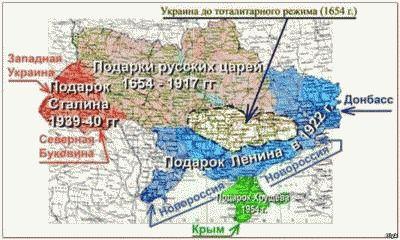 История России где ложь где правда, карта присоединения земель Украине