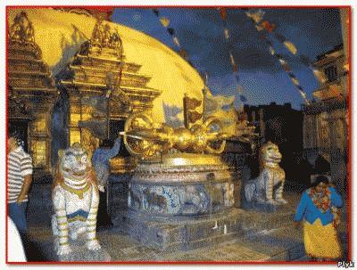 Ступа Боднатх построена с помощью ваджры