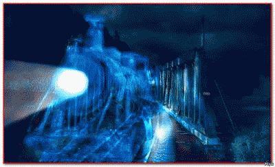 Шотландский поезд-призрак на мосту