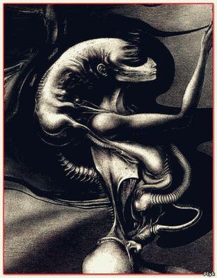 Скачать картины Некрономикон художника Ганса Рудольфа Гигера