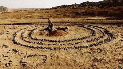 Таинственный круг в пустыне Гоби