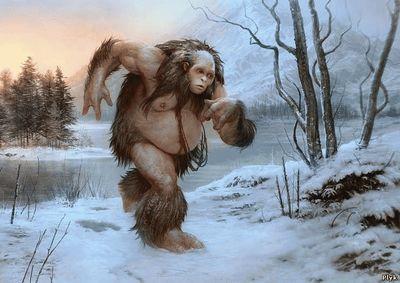 Йети, снежный человек, бикфут