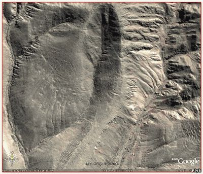 Карта Гугл Перфолента на склоне Анд - Писко Valley, Перу