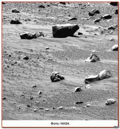 И снова фото с Марса поразили пользователей, на фото череп!