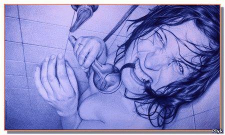 Шариковая ручка против фотографии. Рисунки Juan Francisco Casas