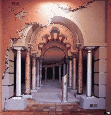 Невероятные рисунки на домах художника - импрессиониста Джон Пью
