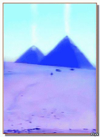 Пирамиды самые таинственные сооружения прошлого начали излучать столбы света в небо