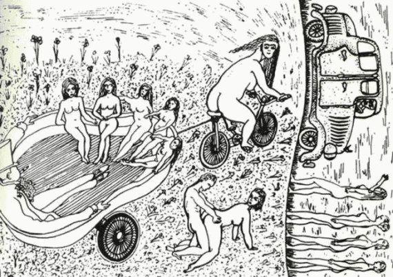 Рисунки людей с психическими отклонениями67