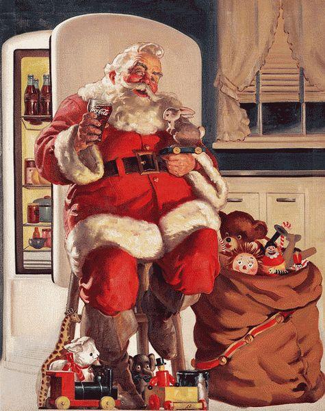 santa-klaus-v-reklame-koka-koly-1951-god