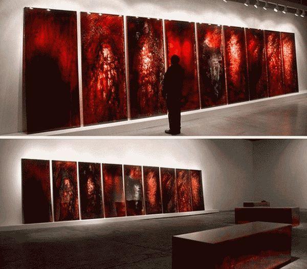 искусство кровью
